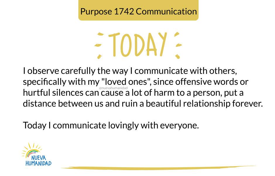 Purpose 1742 Communication