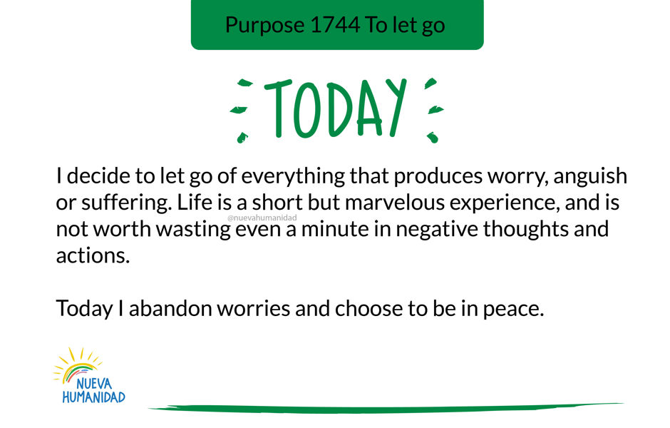 Purpose 1744 To let go
