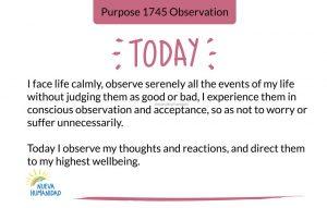 Purpose 1745 Observation