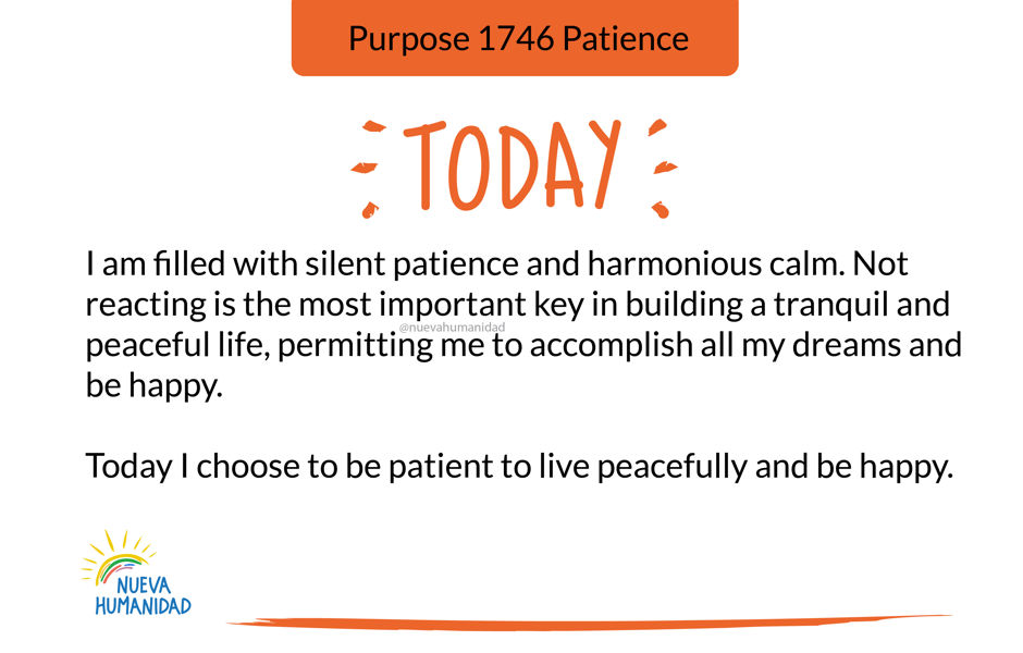 Purpose 1746 Patience