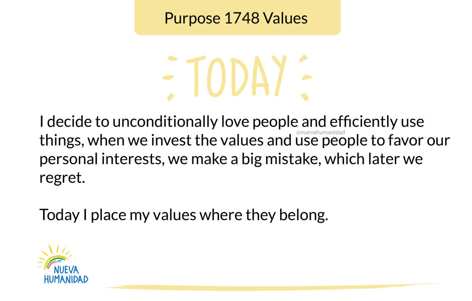 Purpose 1748 Values