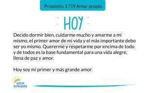Propósito 1759 Amor propio