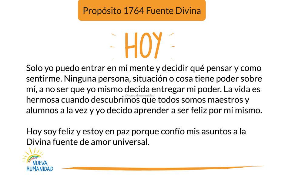 Propósito 1764 Fuente Divina