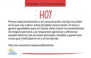 Propósito 1767 Comunicación