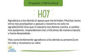 Propósito 1768 Gratitud