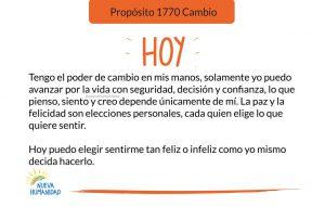 Propósito 1770 Cambio