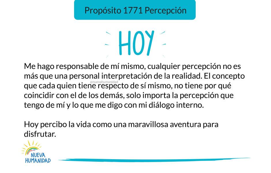 Propósito 1771 Percepción
