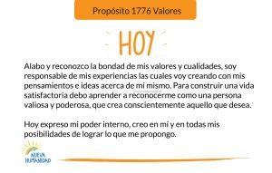 Propósito 1776 Valores
