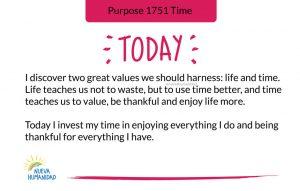 Purpose 1751 Time
