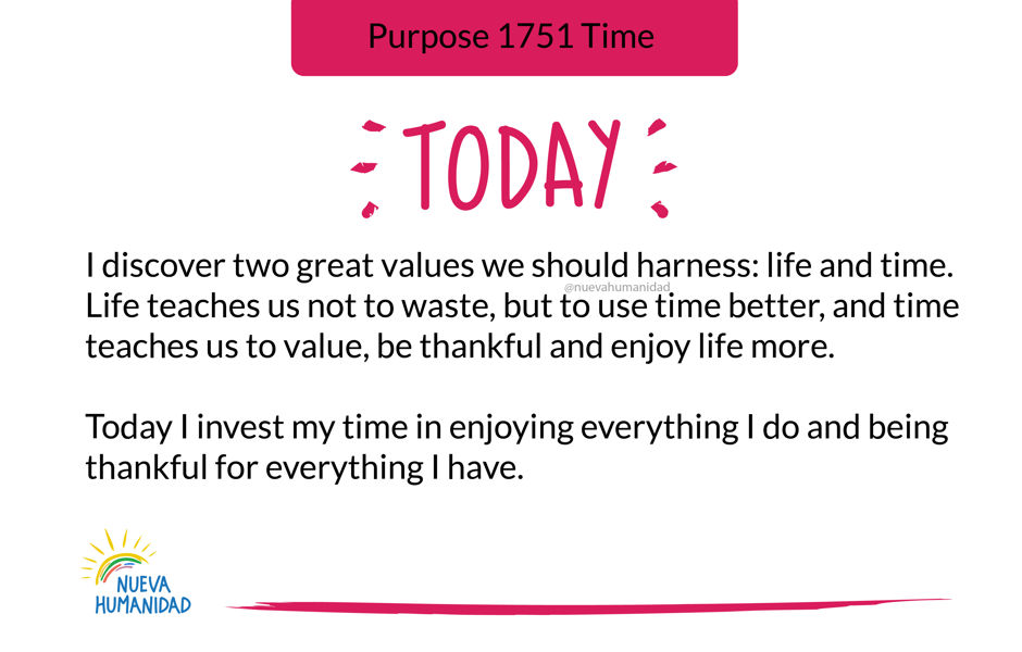 Purpose 1751 Time