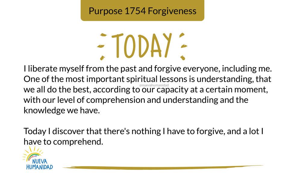 Purpose 1754 Forgiveness