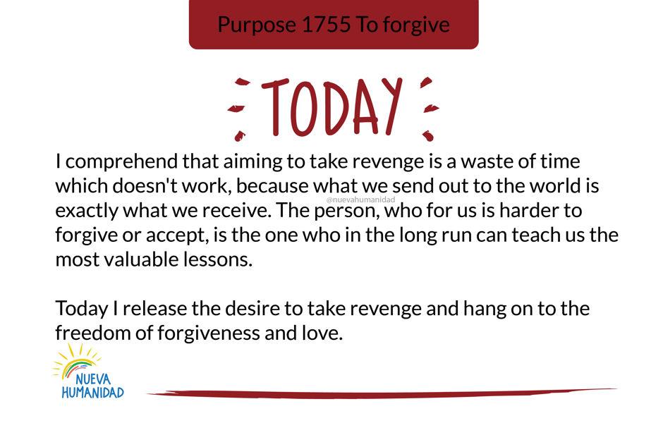 Purpose 1755 To forgive