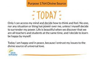 Purpose 1764 Divine Source