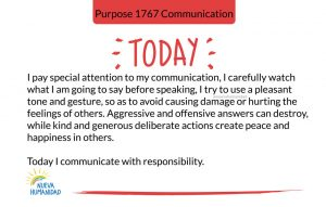 Purpose 1767 Communication