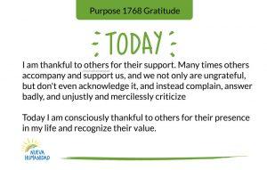 Purpose 1768 Gratitude
