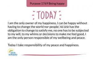 Purpose 1769 Being happy