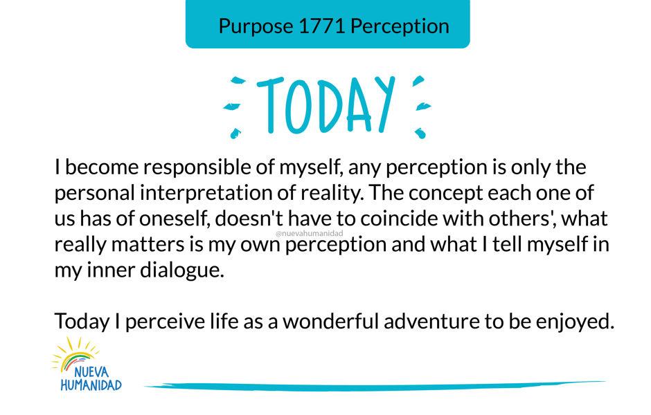 Purpose 1771 Perception
