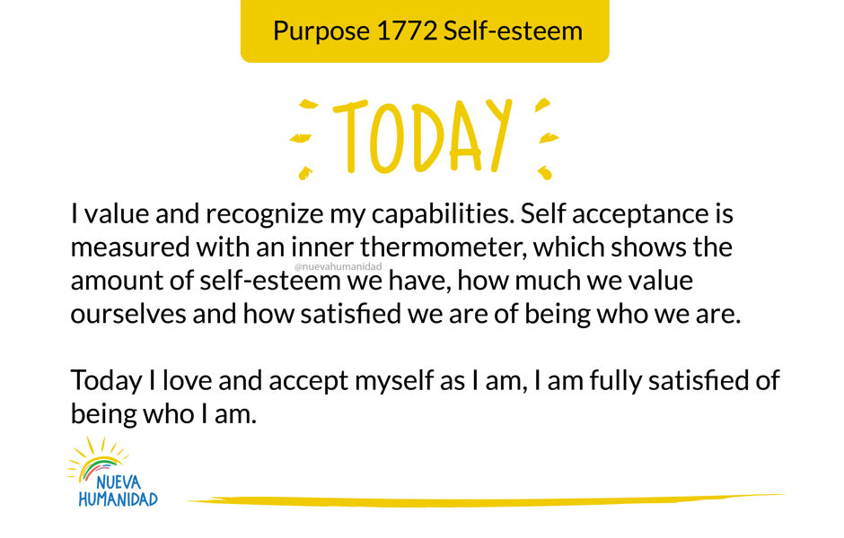 Purpose 1772 Self-esteem