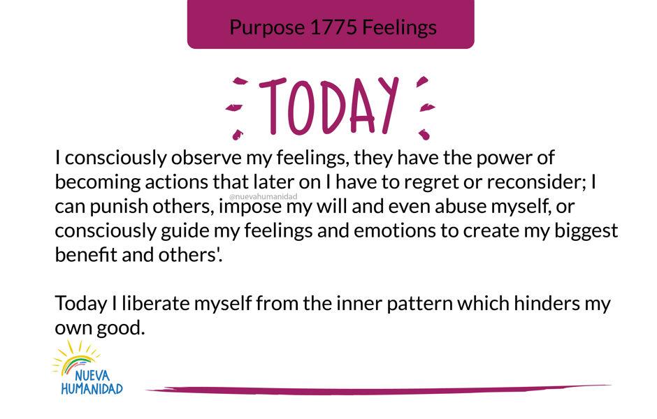 Purpose 1775 Feelings