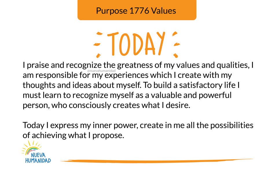 Purpose 1776 Values