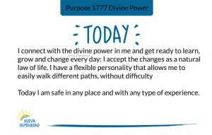 Purpose 1777 Divine Power
