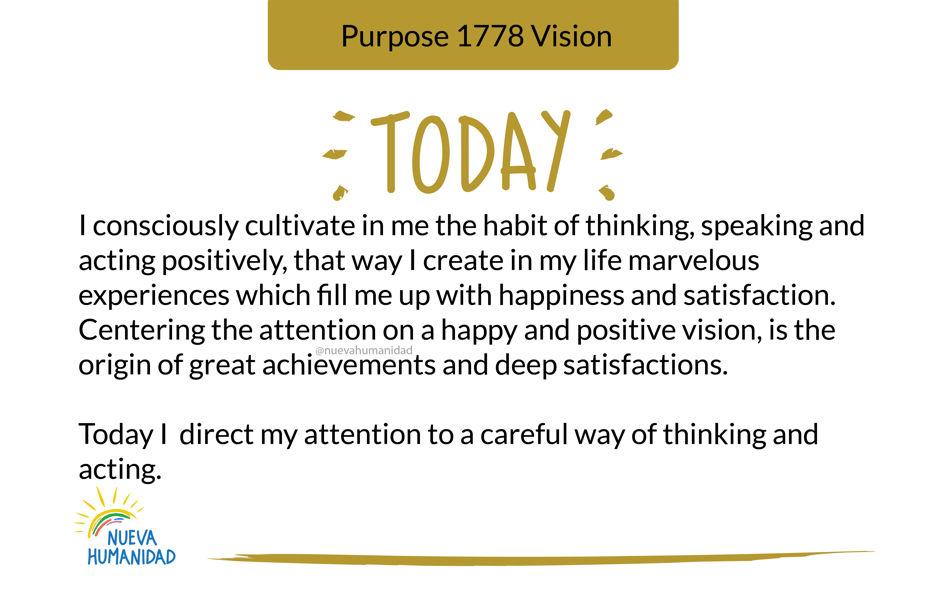 Purpose 1778 Vision