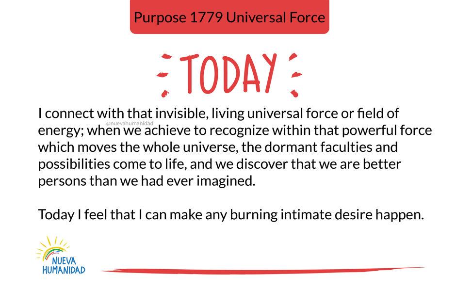 Purpose 1779 Universal Force