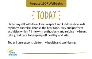 Today I am responsible for my health and well-being.