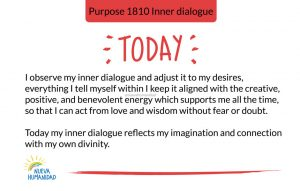 Today my inner dialogue reflects my imagination and connection with my own divinity.