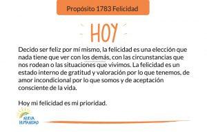Propósito 1783 Felicidad