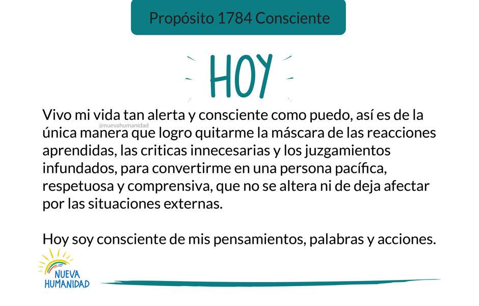 Propósito 1784 Consciente