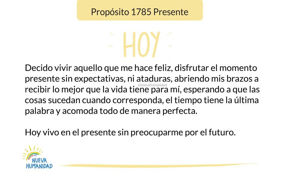 Propósito 1785 Presente