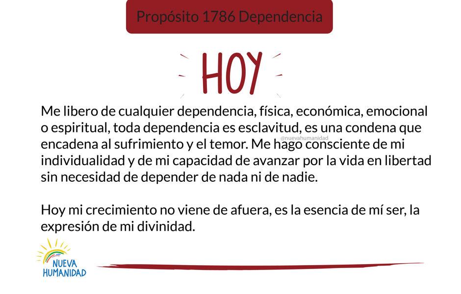 Propósito 1786 Dependencia