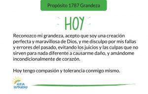 Propósito 1787 Grandeza