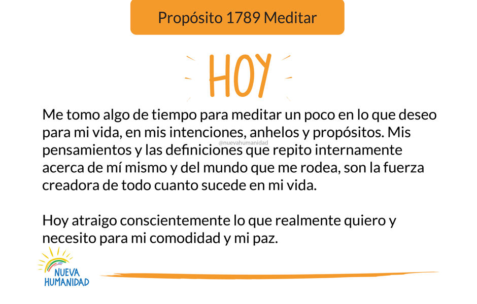 Propósito 1789 Meditar