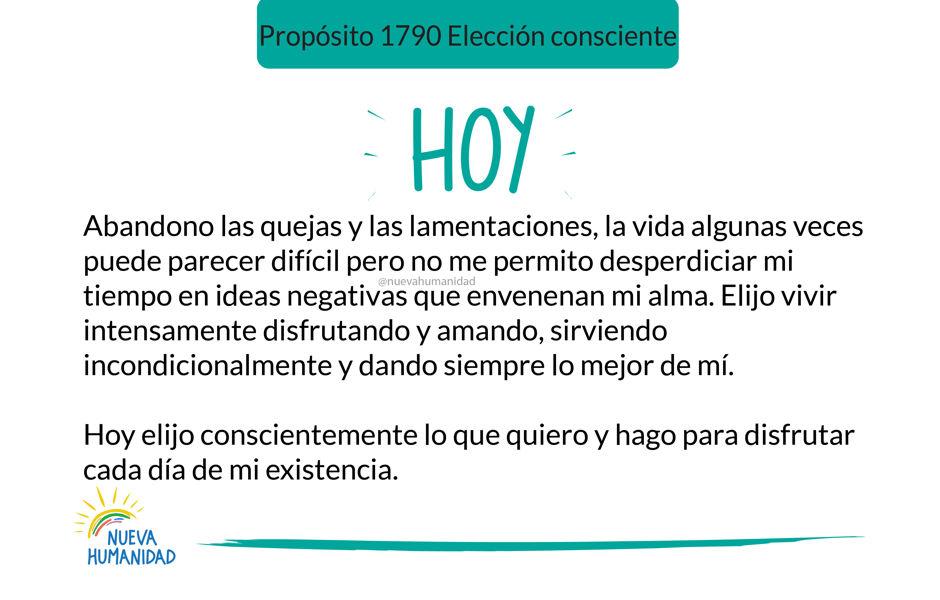 Propósito 1790 Elección consciente