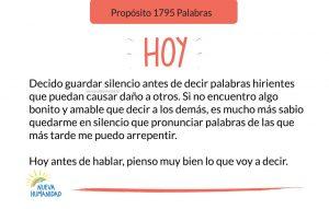 Propósito 1795 Palabras