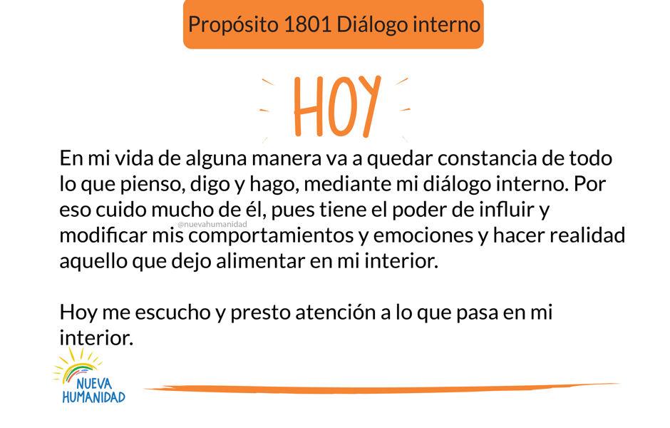 Propósito 1801 Diálogo interno