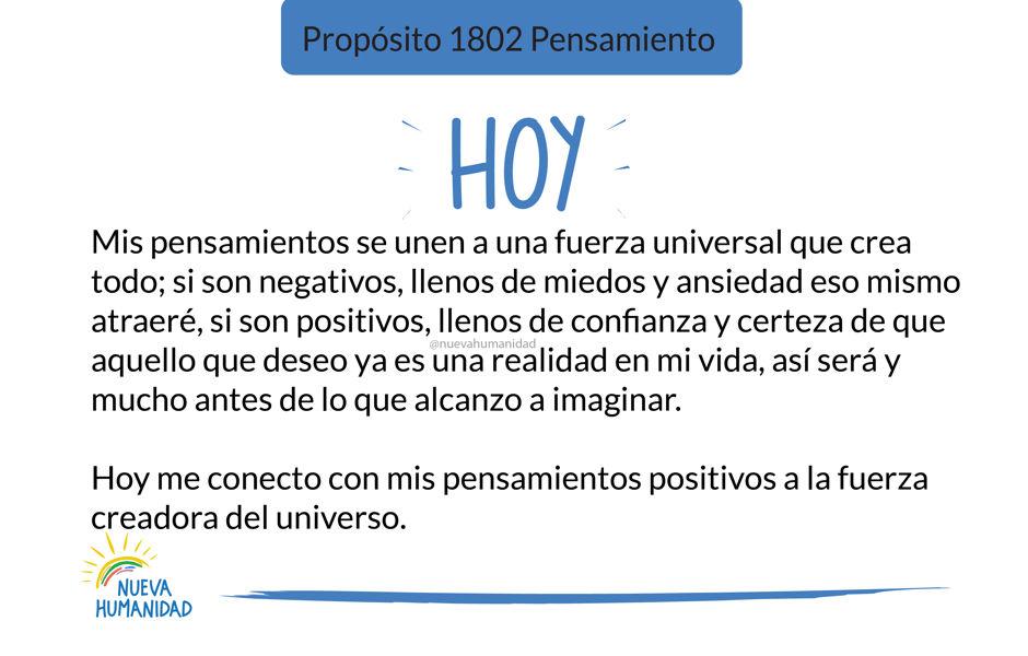 Propósito 1802 Pensamiento