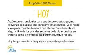Propósito 1803 Deseo