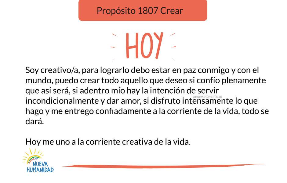 Propósito 1807 Crear