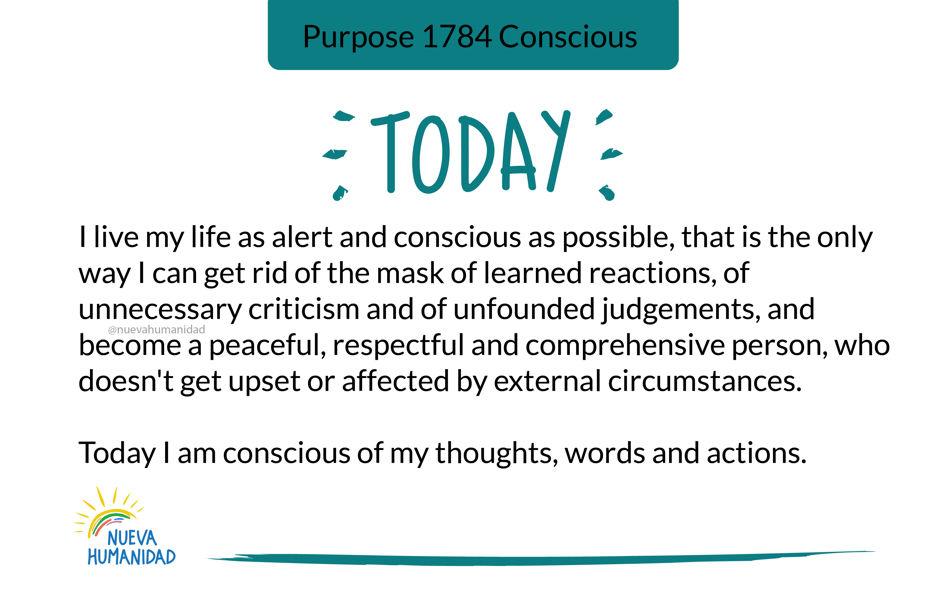 Purpose 1784 Conscious