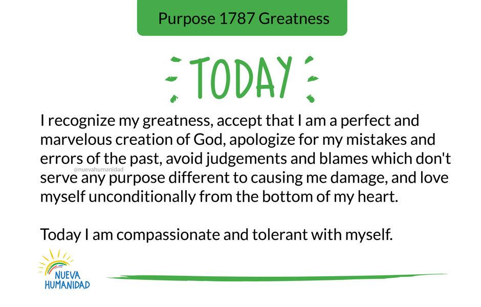 Purpose 1787 Greatness
