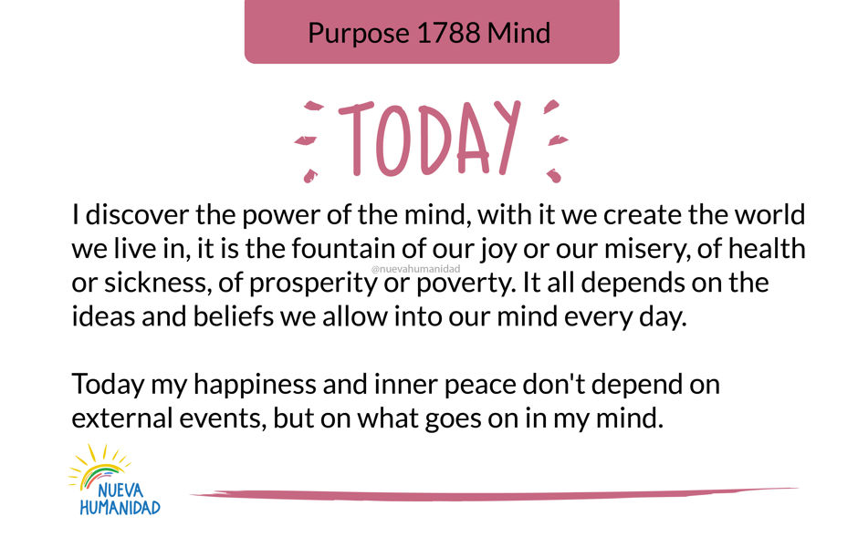 Purpose 1788 Mind