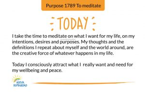 Purpose 1789 To meditate