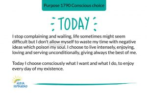Purpose 1790 Conscious choice