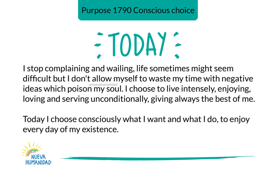Purpose 1790 Conscious choice