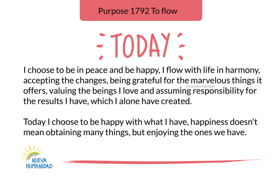 Purpose 1792 To flow
