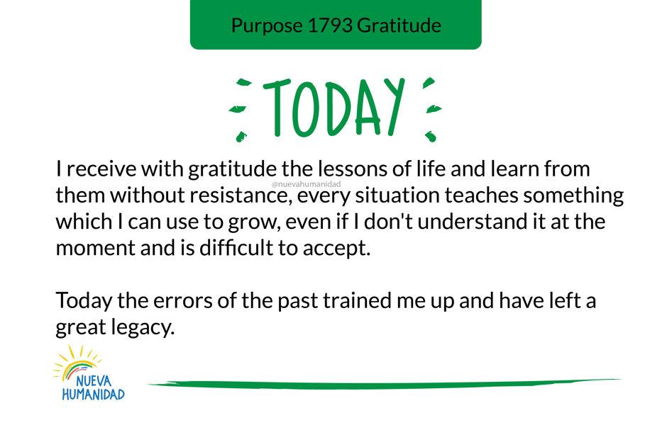 Purpose 1793 Gratitude