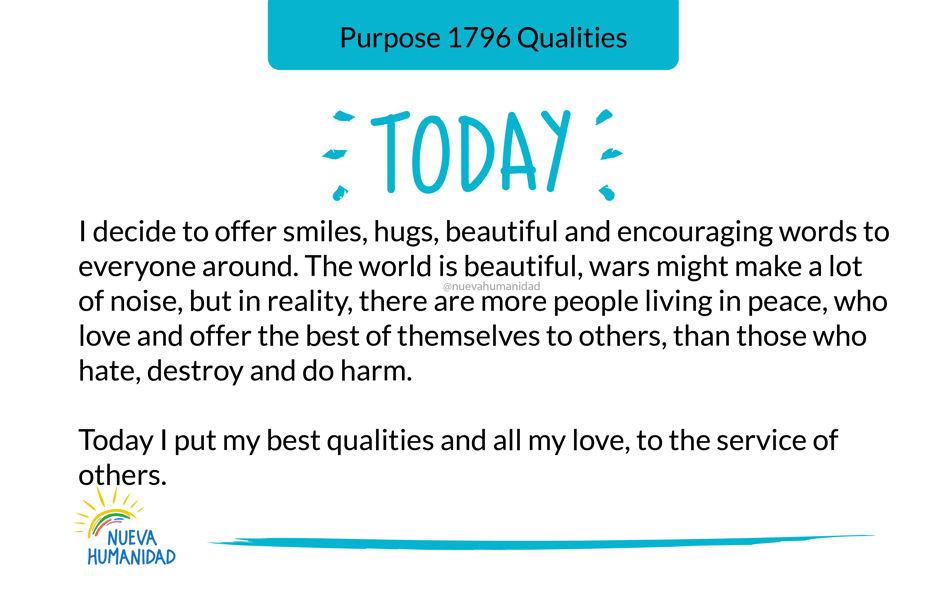Purpose 1796 Qualities